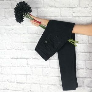 rag + bone ▪️ ridley moto wax black skinny jeans